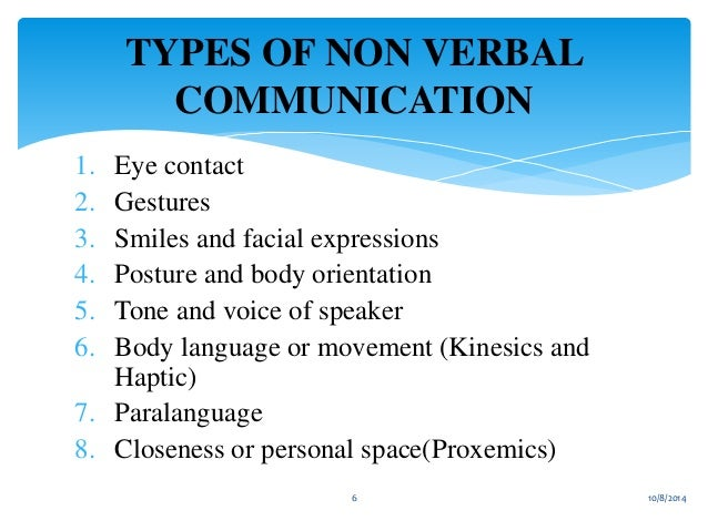 Essay on verbal and nonverbal communication