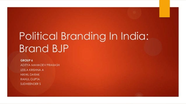 Political Branding in India: Brand BJP