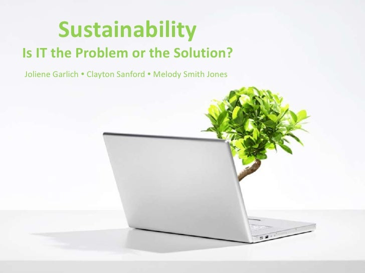 Sustainability in IT
