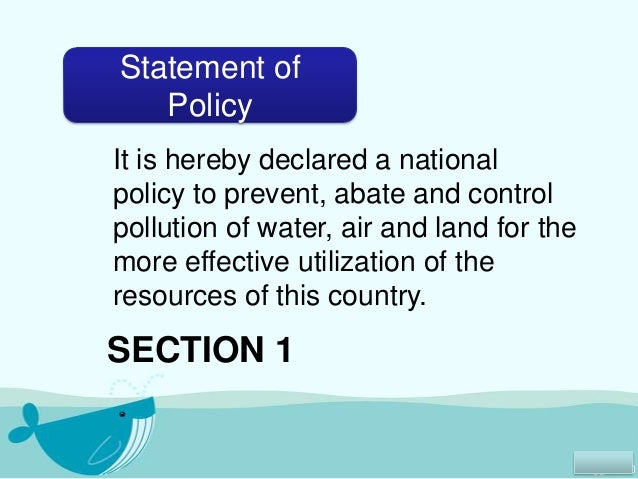 essay about pollution control