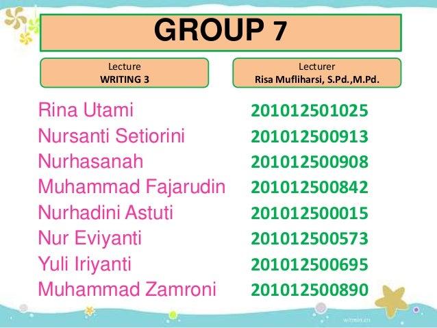 Rina Utami 201012501025 Nursanti Setiorini 201012500913 Nurhasanah 201012500908 Muhammad Fajarudin 201012500842 Nurhadini ...