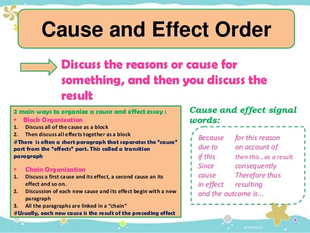 transition words list for cause and effect essay Essay writing upload  proofreading  these are all examples of transition words not in common use  these linking words signal cause and effect, reason and.