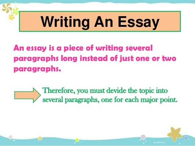 Identify the main parts of an essay