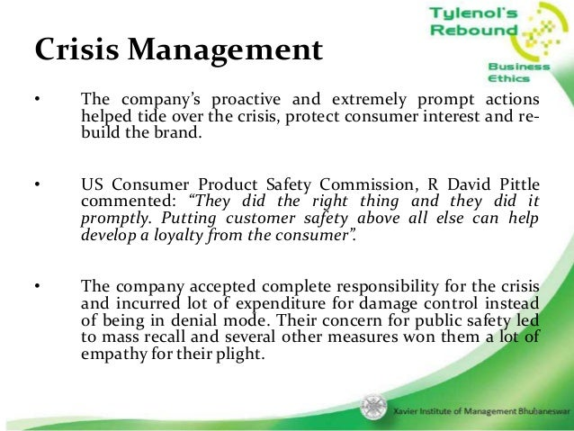 tylenol vs toyota crisis management at