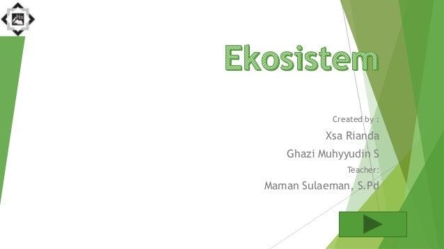 Created by : Xsa Rianda Ghazi Muhyyudin S Teacher: Maman Sulaeman, S.Pd