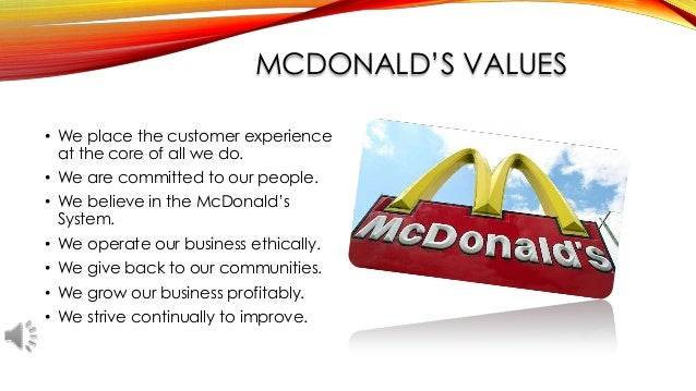 business philosophy of mcdonalds Learn how burger king is turning the tables on mcdonald's, and adding another fascinating chapter to a story of one of the most iconic business rivalries.