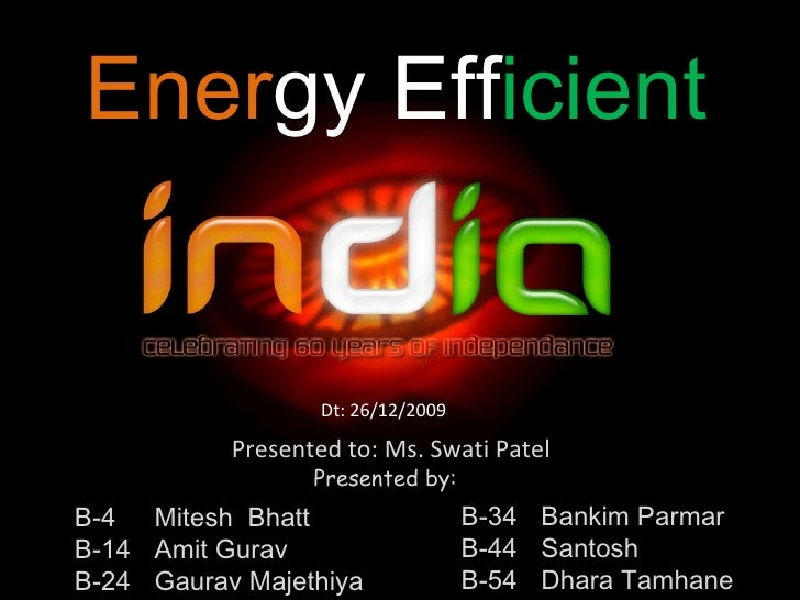 energy efficient india