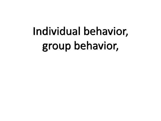 Individual behavior,group behavior,