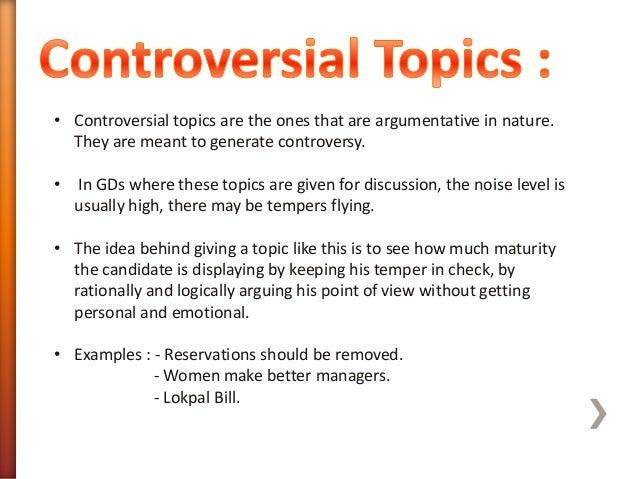 best controversial topics