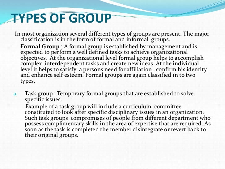 group and organizational dynamics A group can be defined as several individuals who come together to accomplish a particular task or goal group dynamics refers to the attitudinal and behavioral characteristics of a group group dynamics concern how groups form, their structure and process, and how they function group dynamics are.