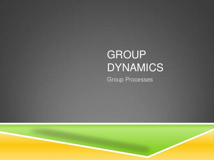 GROUPDYNAMICSGroup Processes
