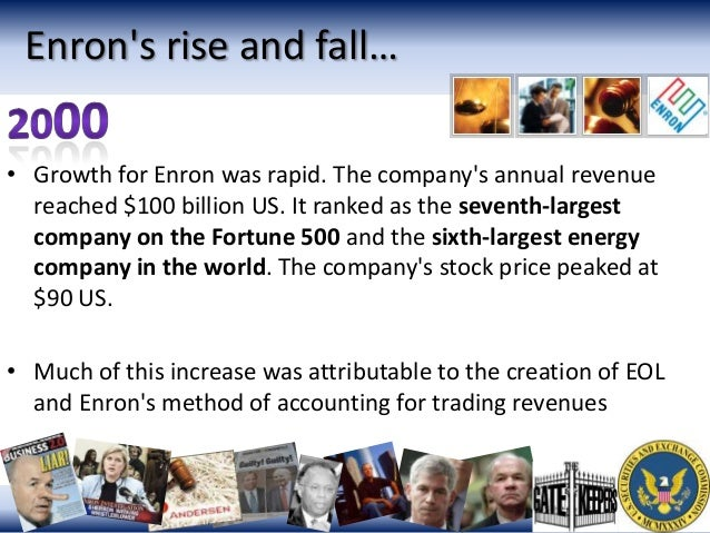 enron essays From the 1990's until the fall of 2001, enron was famous throughout the   sudden fall of enron in the end of 2001 shattered not just the.