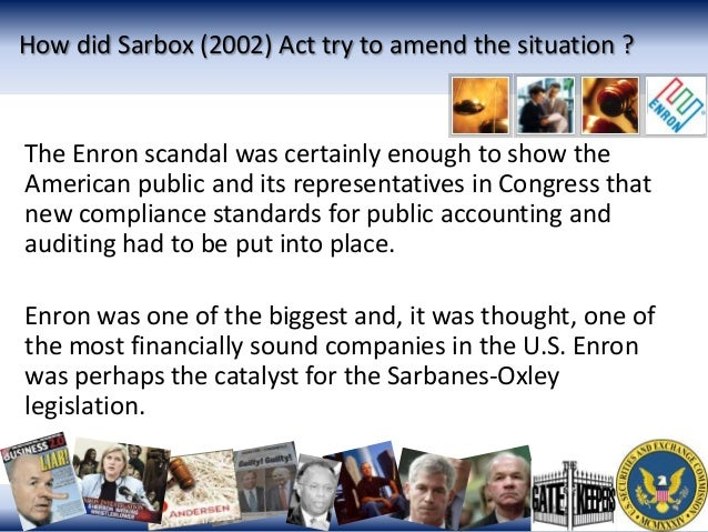 the sarbanes-oxley act essay In two to three paragraphs, describe the sarbanes-oxley act and why it is  important to the accounting profession (15 points) the sarbanes-oxley act was .