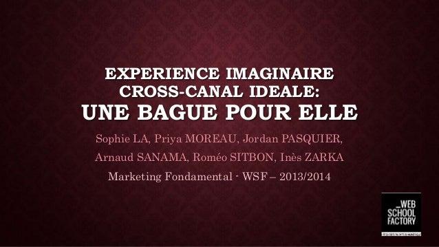 EXPERIENCE IMAGINAIRE CROSS-CANAL IDEALE: UNE BAGUE POUR ELLE Sophie LA, Priya MOREAU, Jordan PASQUIER, Arnaud SANAMA, Rom...