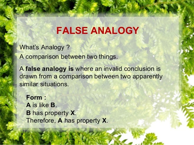 how to avoid false analogy