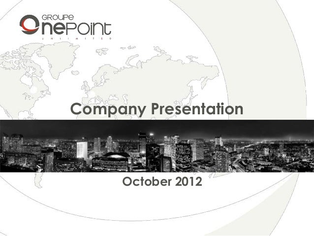 Groupe onepoint presentation