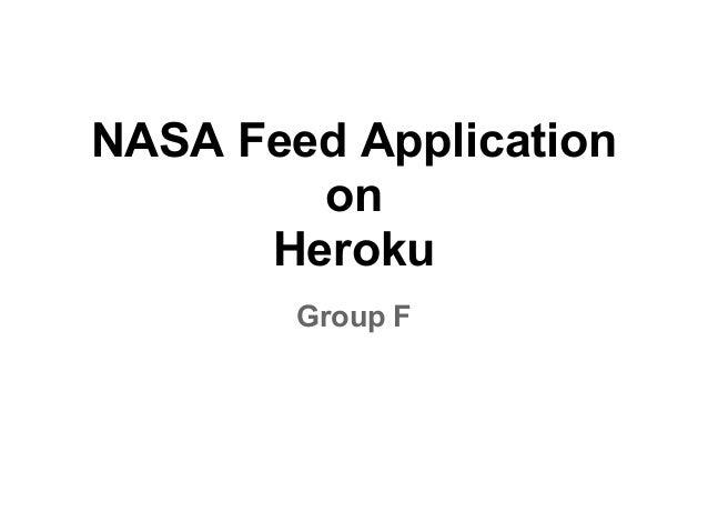 NASA Feed Application on Heroku Group F