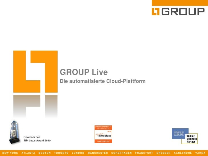 GROUP Live - die automatisierte Cloud-Plattform