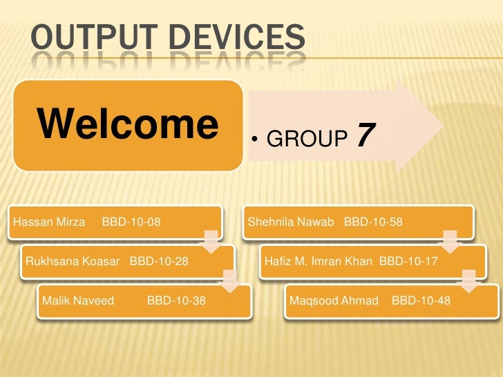 Output Devices<br />