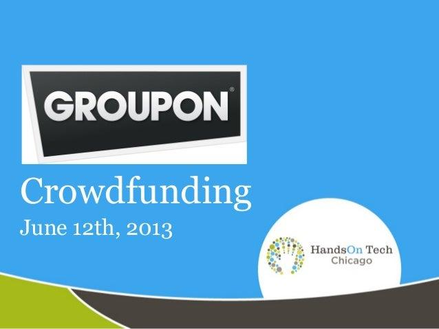 Groupon crowdfunding presentation