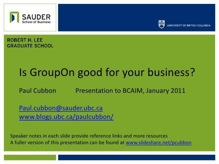 Groupon round up -paul jan 24-2011