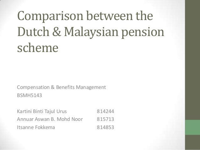 comparison between Malaysia and Dutch Pension Scheme