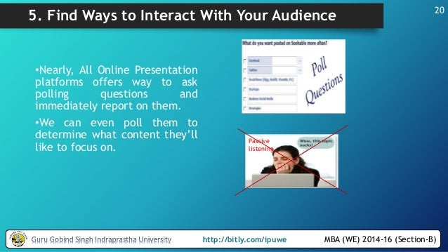 Explain different ways of delivering presentations and their features