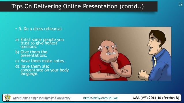 Make an online presentation