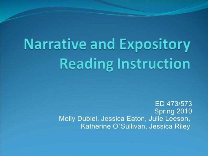 ED 473/573 Spring 2010 Molly Dubiel, Jessica Eaton, Julie Leeson, Katherine O`Sullivan, Jessica Riley