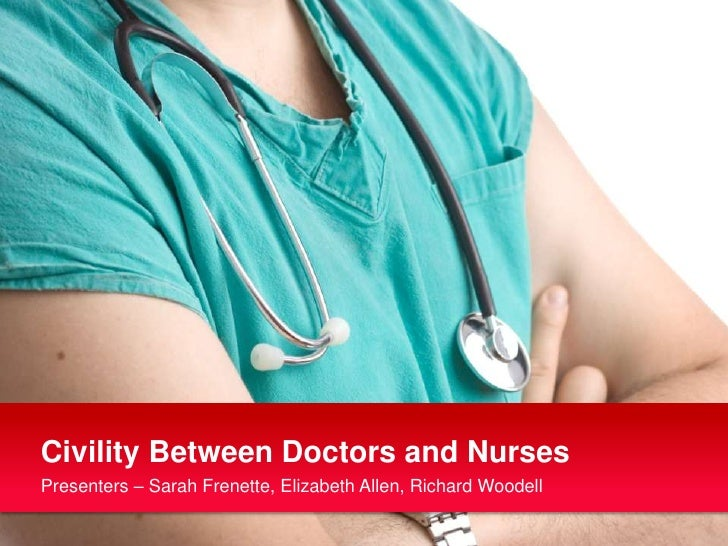 Civility Between Doctors and Nurses<br />Presenters – Sarah Frenette, Elizabeth Allen, Richard Woodell<br />
