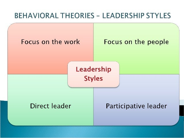 leadership and the current leadership approaches The relationship between leadership styles, which managers practice, and their   consultative style which is much more appropriate to the present time and.