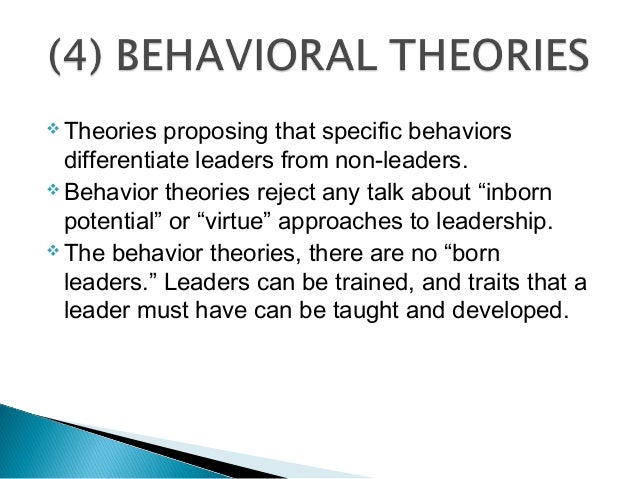 behavioral theories of leadership essay Ufz dissertation program essay nature conservation yoga wyatt: november 30, 2017 i'm forever using my family and life story as an example to write my essays.