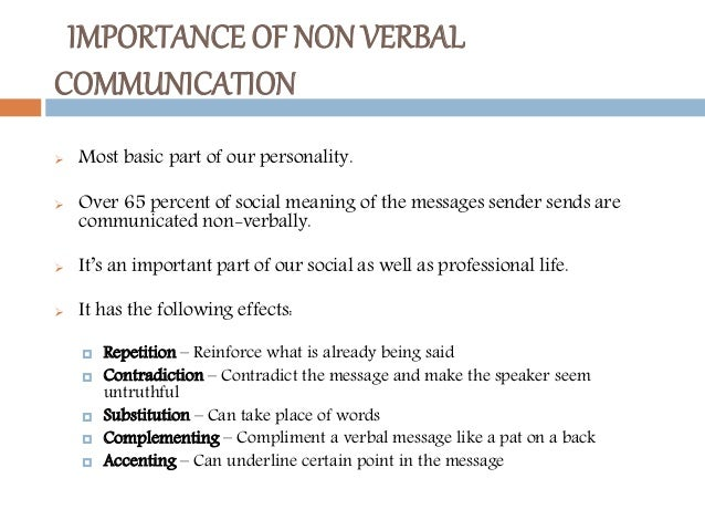 non verbal communication 3 essay Verbal communication involves the use of language, speech and voice where as in non verbal communication the body does the coding for us in form of gestures, facial expressions, posture, and paralanguage.