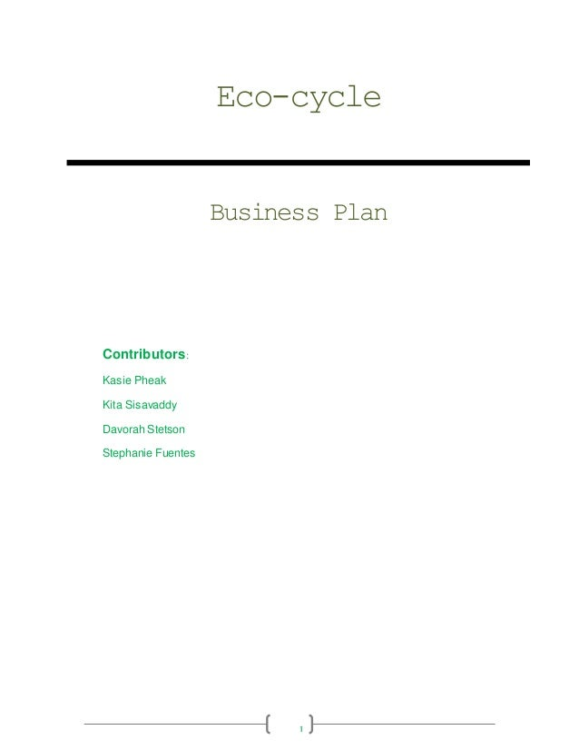 Eco-cycle business plan