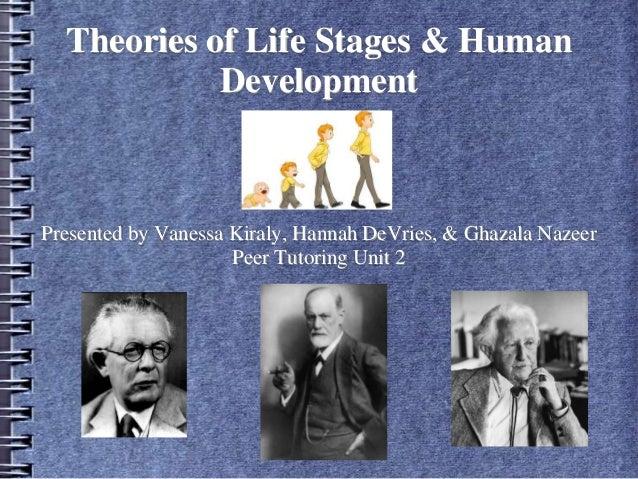 Theories of Life Stages & Human Development Presented by Vanessa Kiraly, Hannah DeVries, & Ghazala Nazeer Peer Tutoring Un...