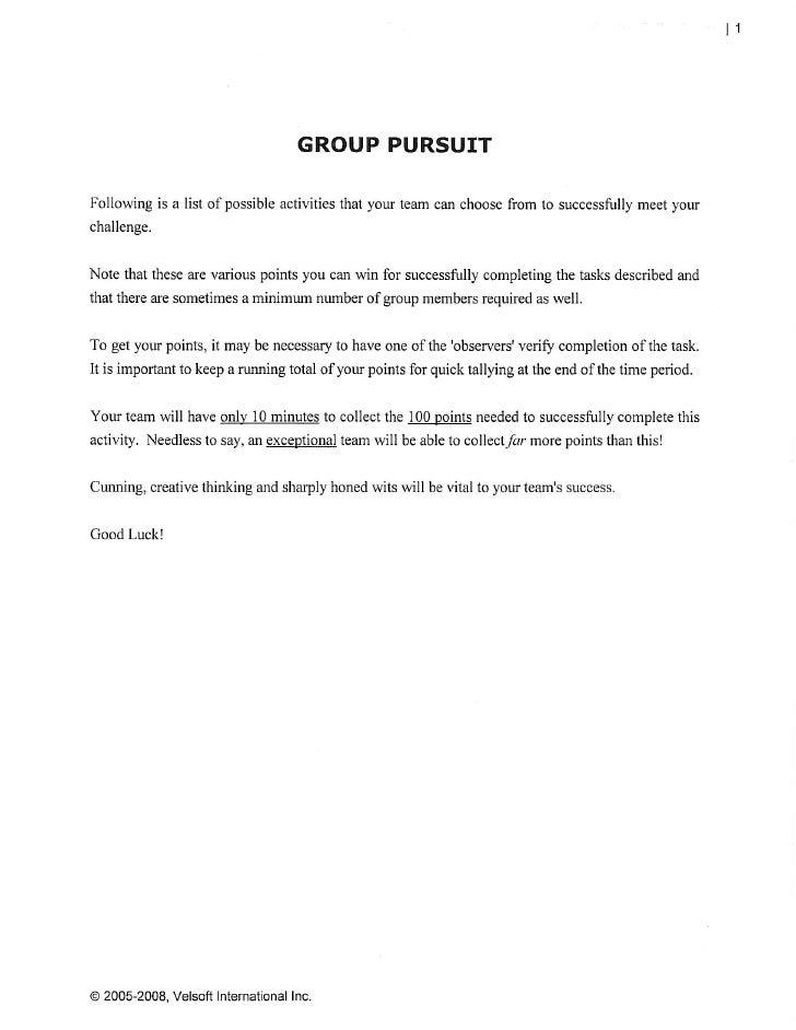 Group pursuit survival