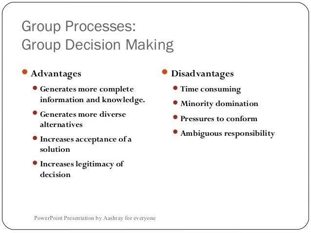 group project decision making advantages