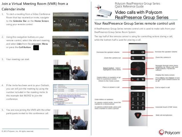 Polycom Virtual Meeting Room Setup