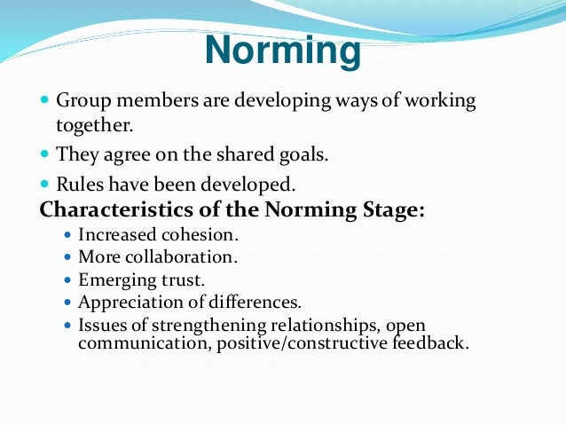 group development essay 5 stages of group development stage 1 forming in the forming stage, terminal relations are characterized by dependence group members rely on styles.