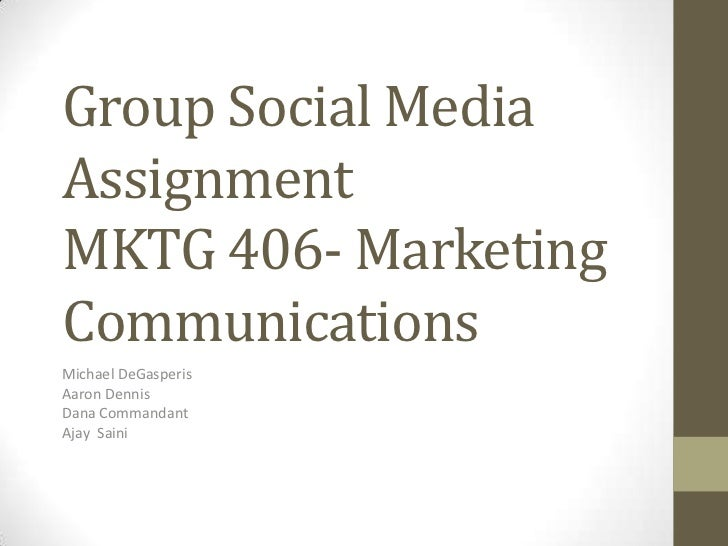 Group social media assignment