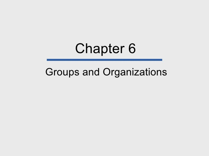 Groups & Organizations