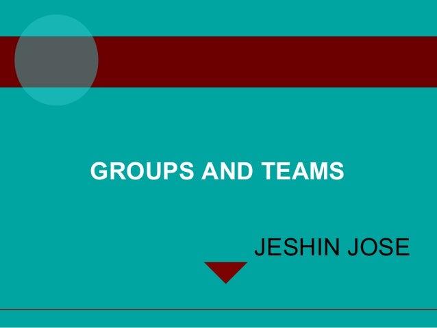 Groups & teams