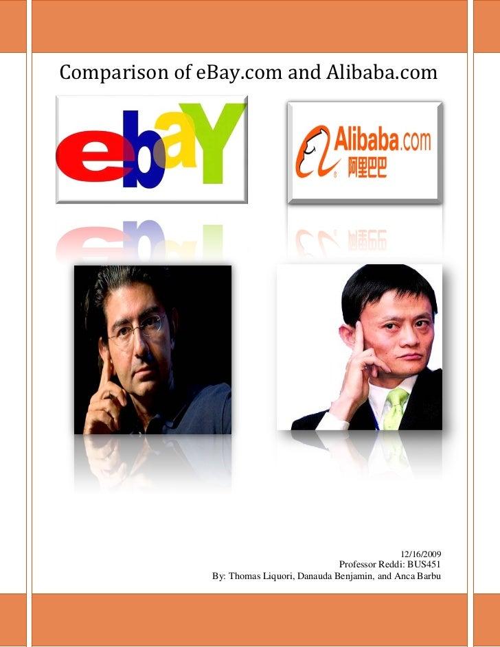 Comparison of eBay.com and Alibaba.com                                                         12/16/2009                 ...