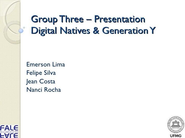 Group three – presentation second version