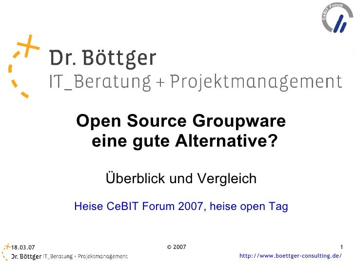 Groupware Ce Bit2007 Heise Forum Cb Web