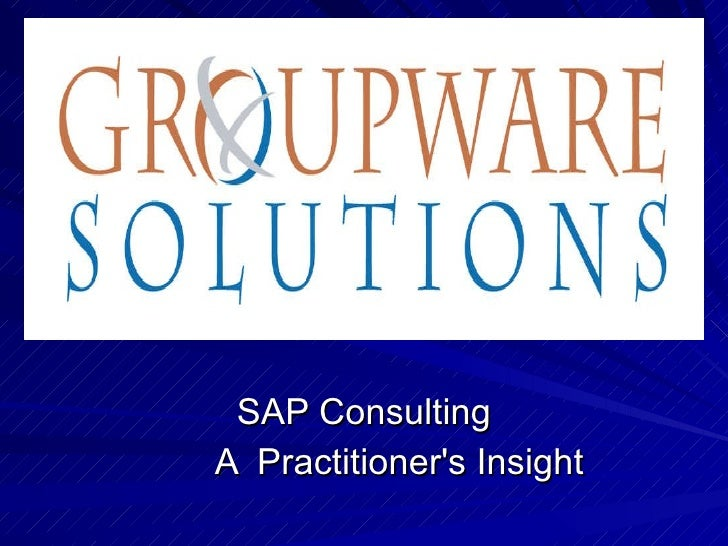 SAP Consulting A  Practitioner's Insight