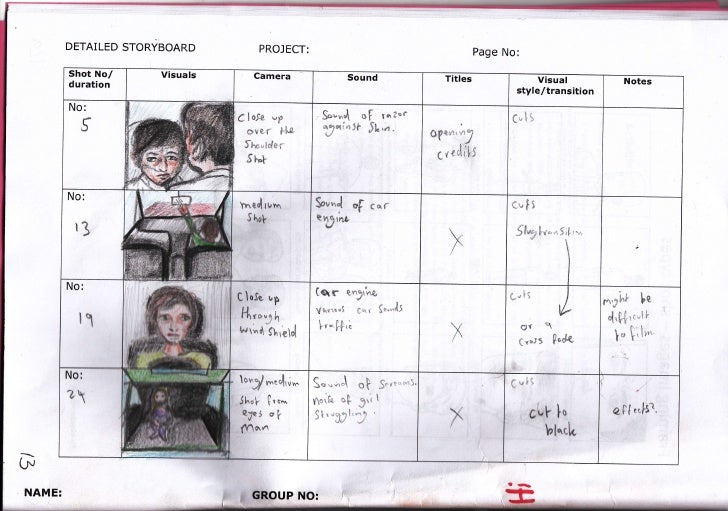 DETAILED STORYBOARD                                           PROJECT:                                                    ...
