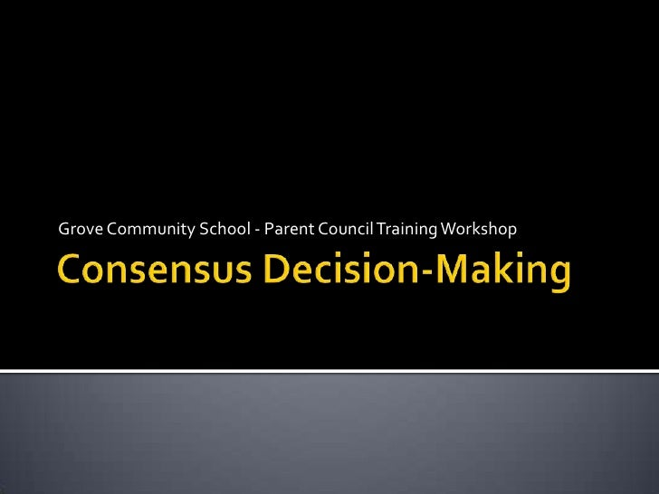 Consensus Decision-Making Workshop