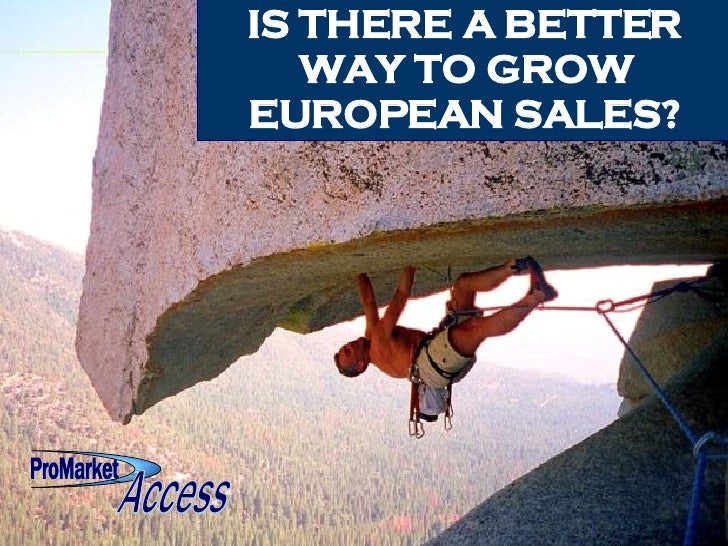 IS THERE A BETTER WAY TO GROW EUROPEAN SALES? ProMarket ProMarket Access Access