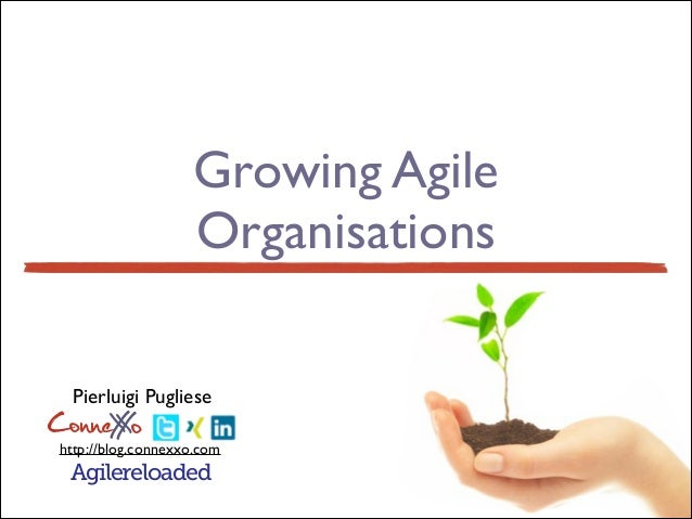 Growing Agile Organisations @ Lean & Agile for Innovation 2014, Milan
